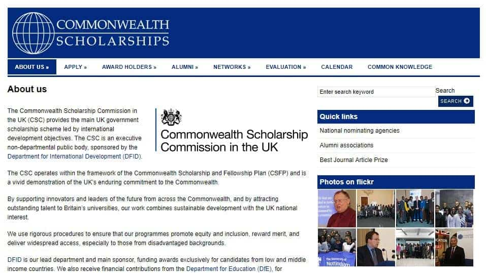 Commonwealth scholarship is one of the best scholarships