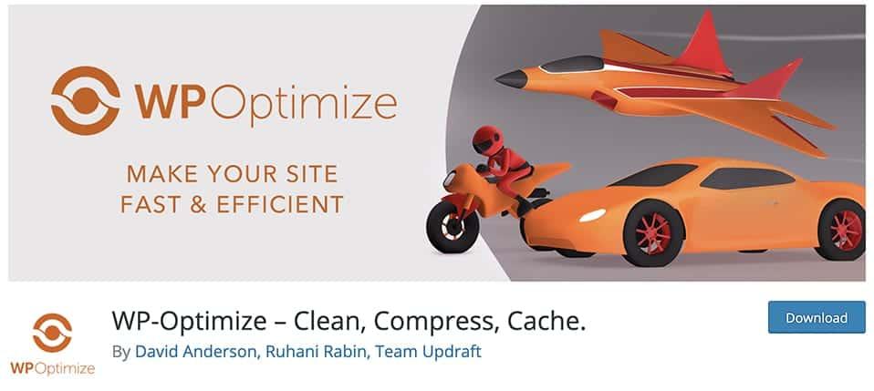 WP-Optimize – Clean, Compress, Cache.