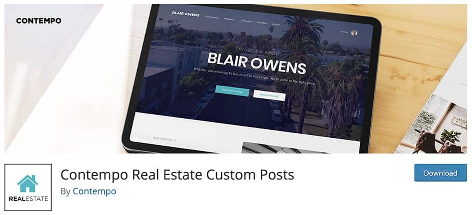 Contempo Real Estate Custom Posts
