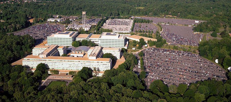 Aerial view of CIA headquarters