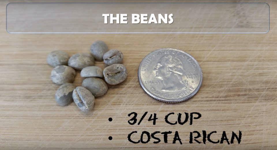 Small Costa Rica coffee beans