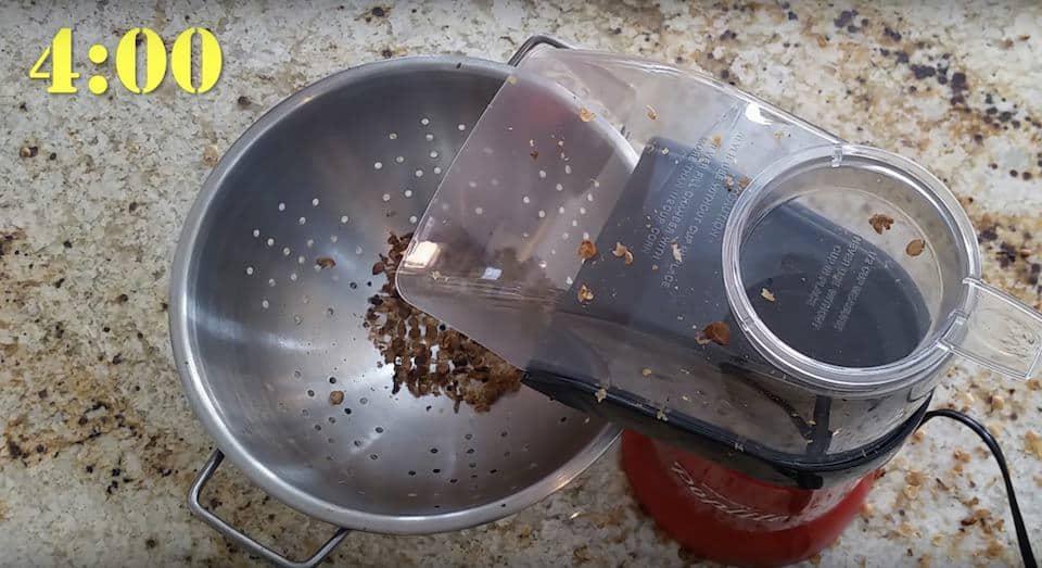 Second crack in the popcorn popper