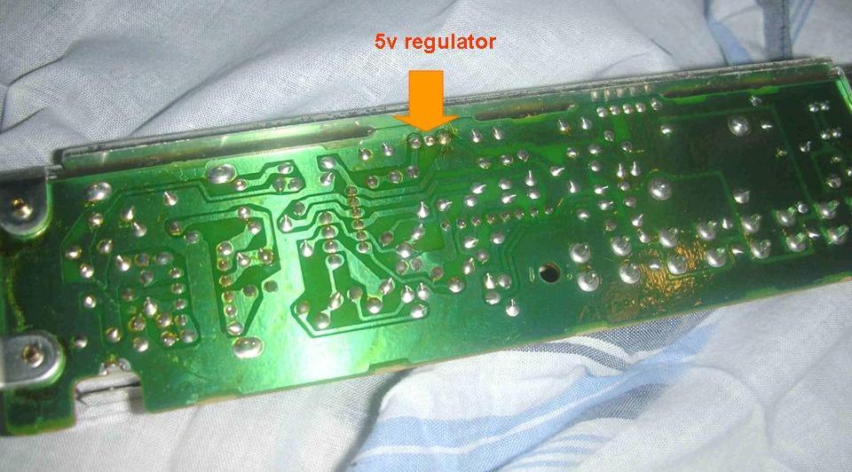 Voltage regulator board solder side