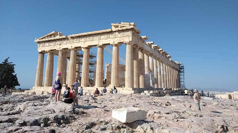 Parthenon Temple from our Athens Kid-friendly Acropolis Tour in Dutch, German or English