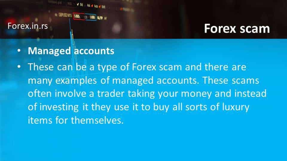 managed accounts scam