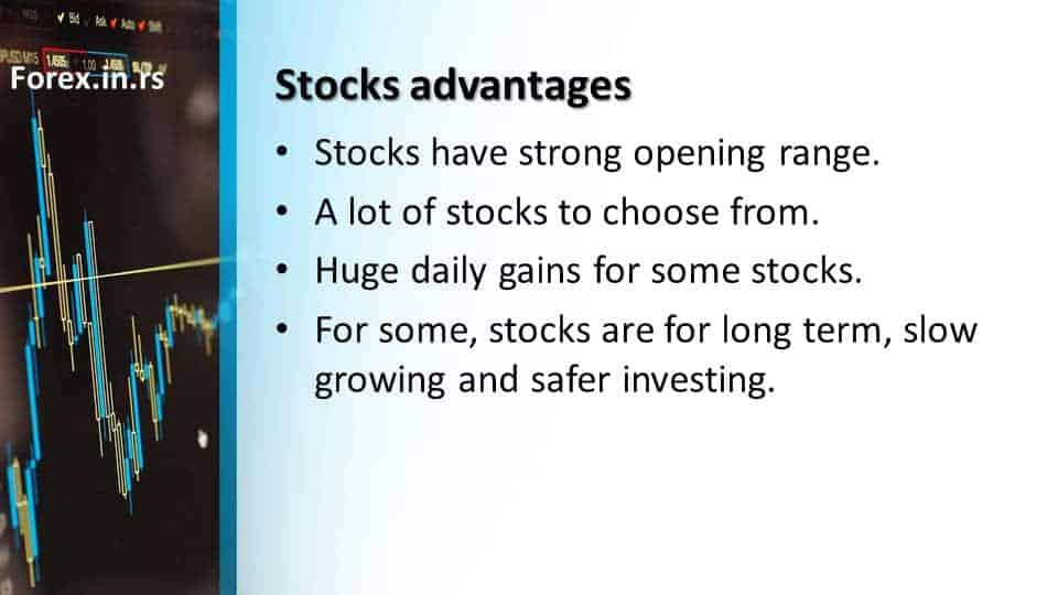advantages stocks over forex