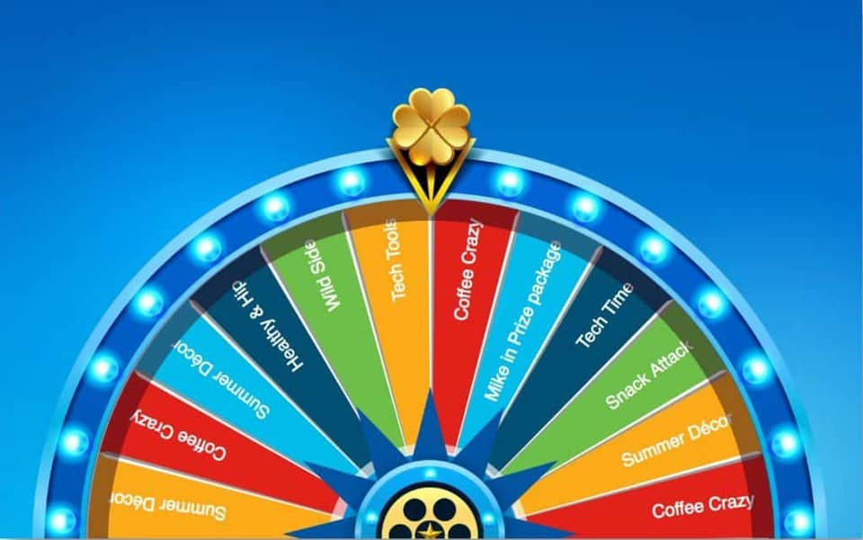 3 dimensional virtual prize wheel shamrock