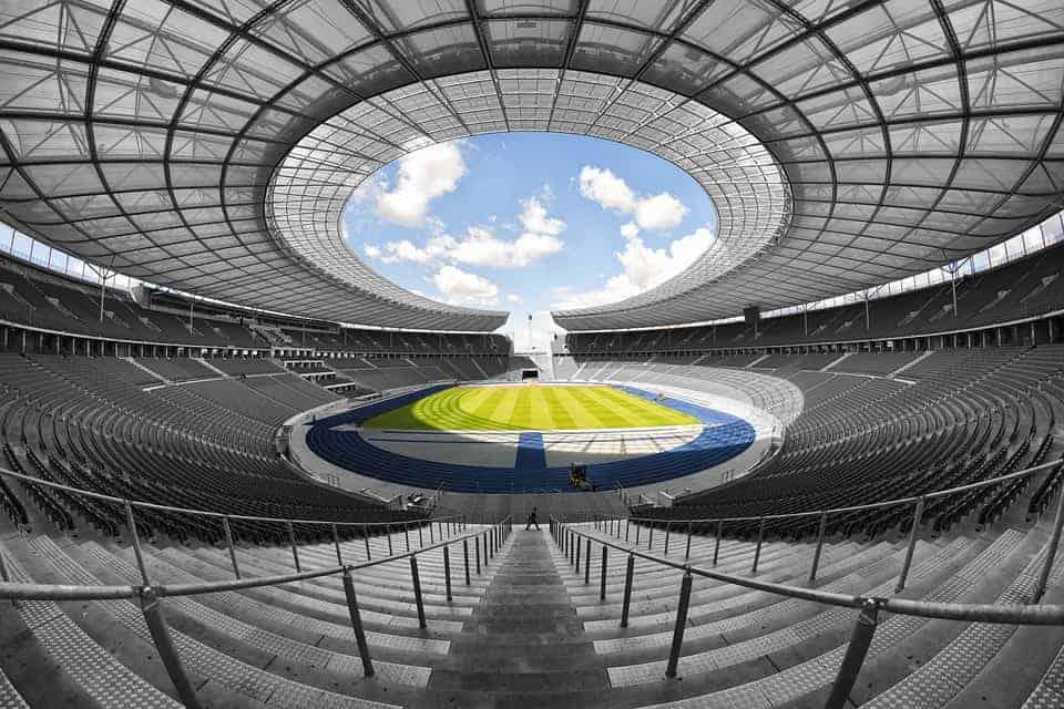 A stadium roof