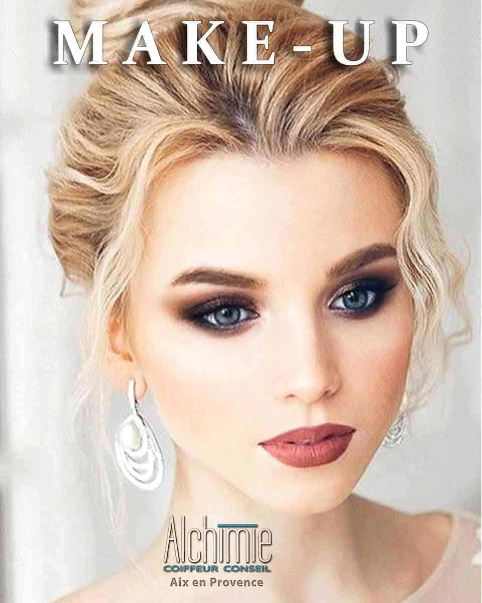maquillage mariée alchimie coiffure