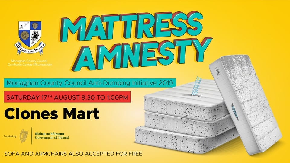 Mattress Amnesty Event on Saturday 17th of August at Clones Mart