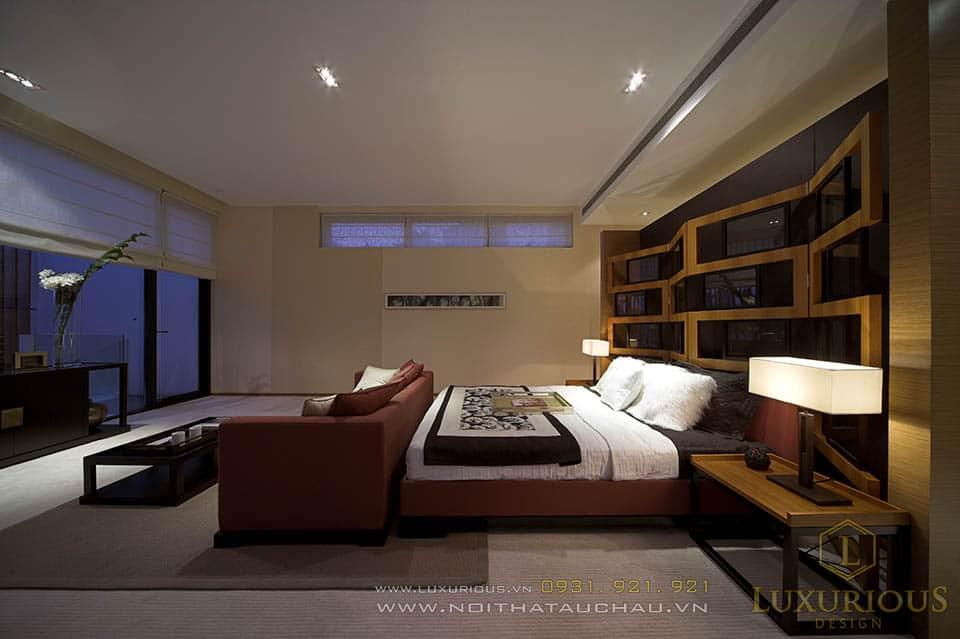 Thiết kế thi công nội thất nhà biệt thự 4 phòng ngủ hiện đại