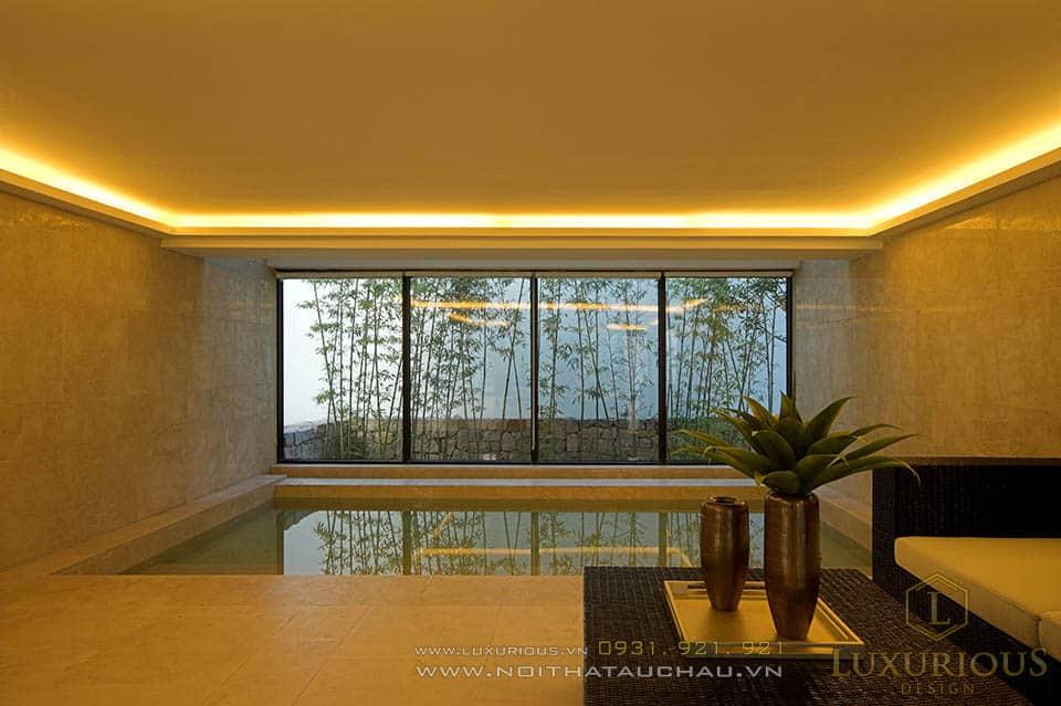 thiết kế nhà biệt thự có bể bơi