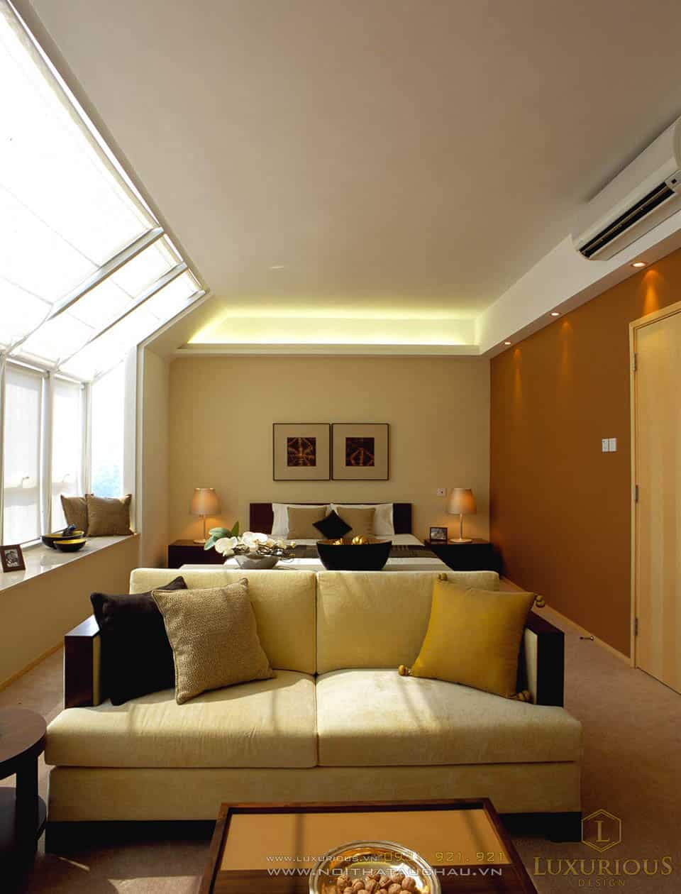 Thi công nội thất phòng khách nhà biệt thự hiện đại sang trọng