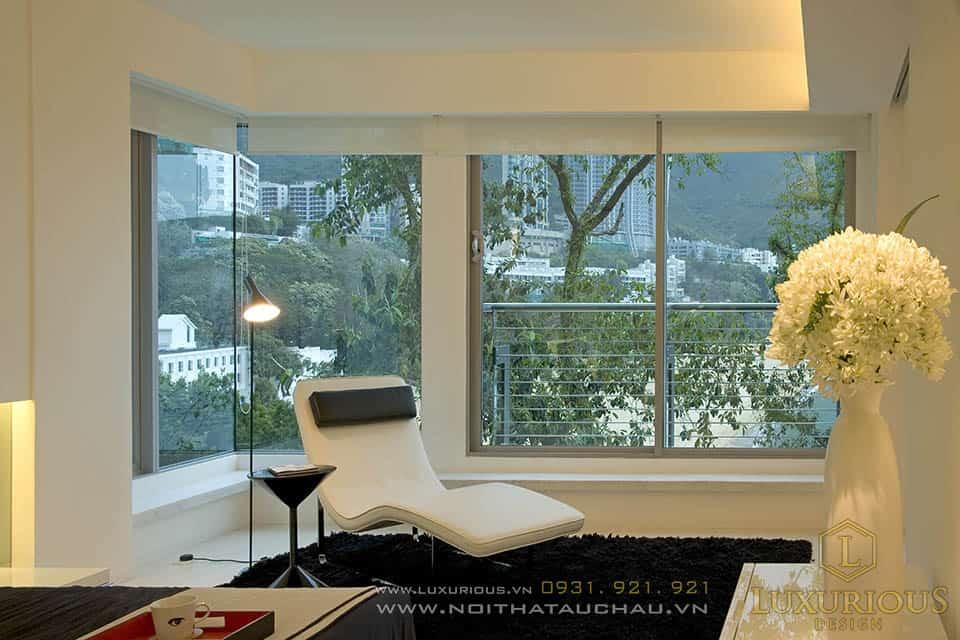 Thi công nội thất phòng ngủ nhà biệt thự 2 tầng hiện đại
