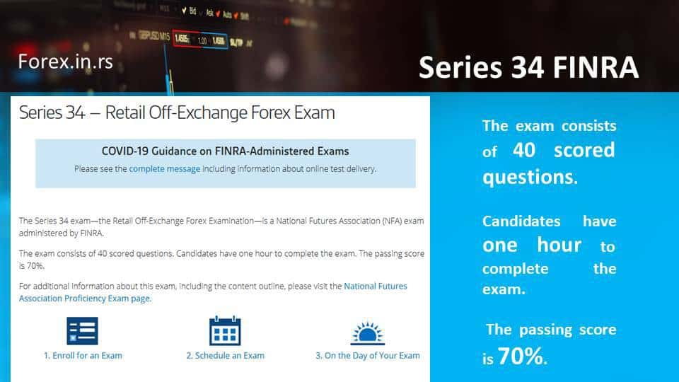 FINRA 34 series certification
