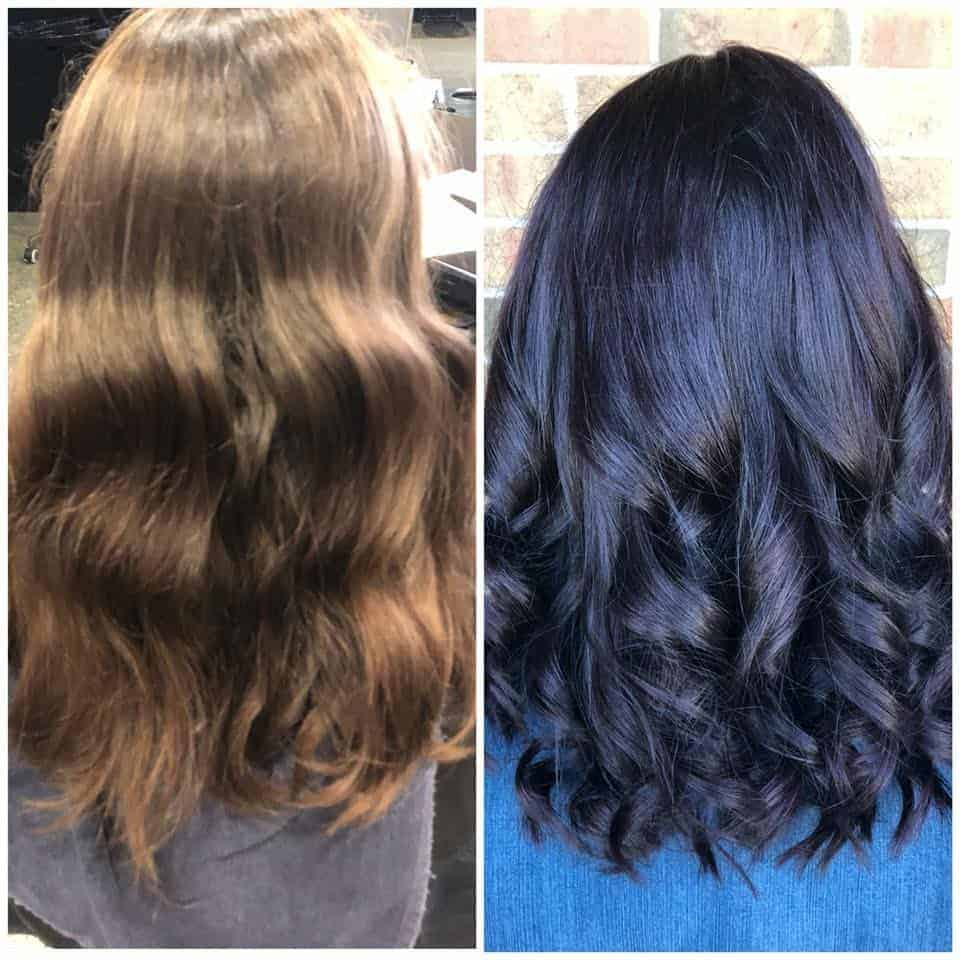 hair before after -holly's salon