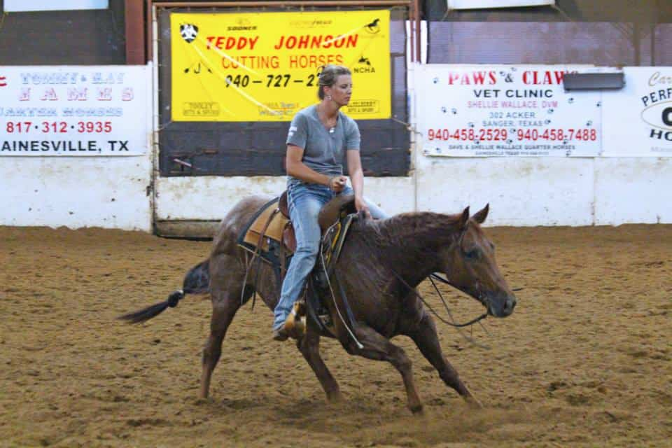 Cutting horse loper Dakotah Harrell