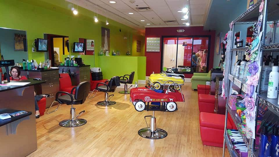pigtails and crewcuts kids salon franchise interior