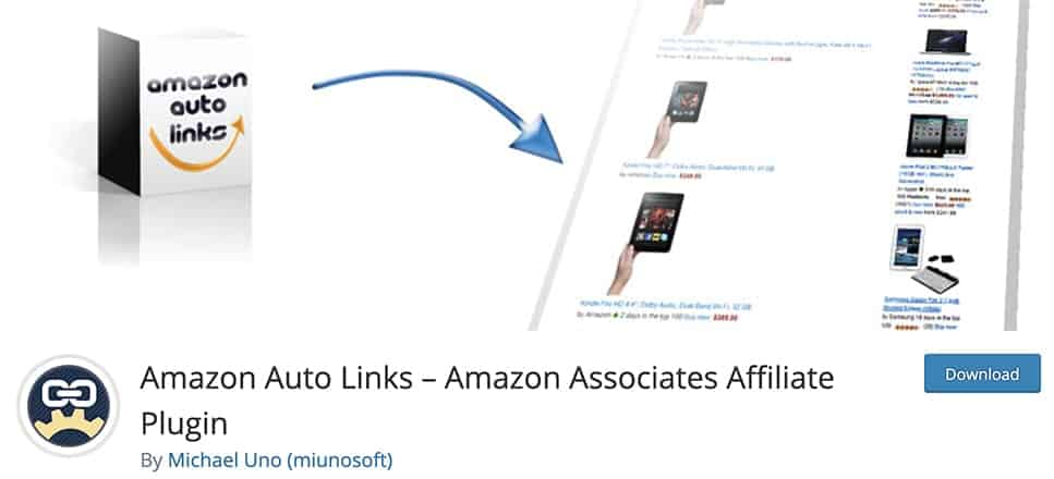 Amazon Auto Links – Amazon Associates Affiliate Plugin