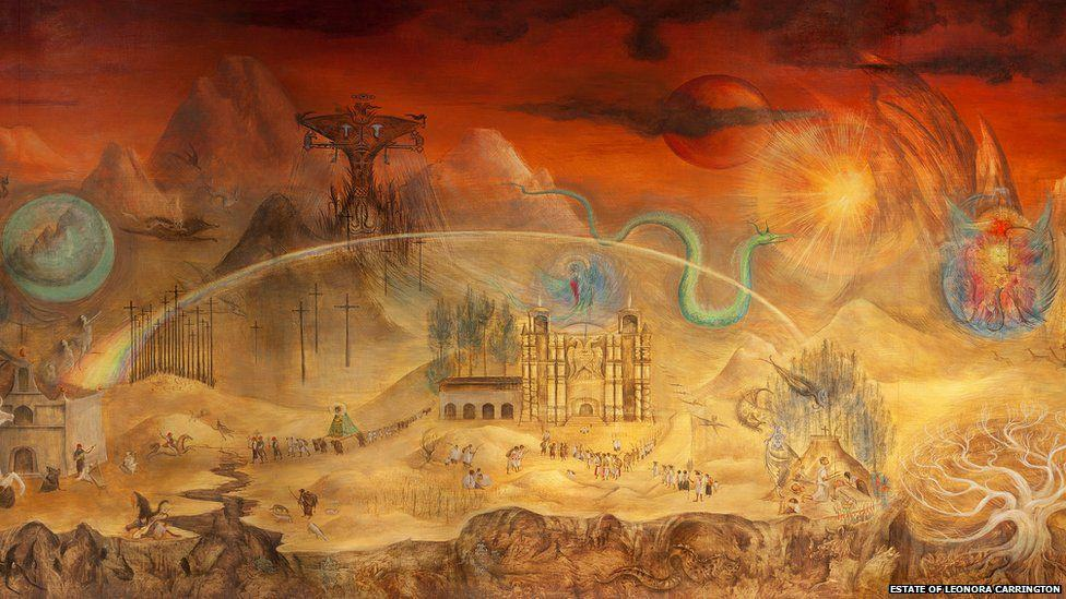 Surrealism art. El Mundo Magio de los Mayas (1963) by Leonora Carrington.
