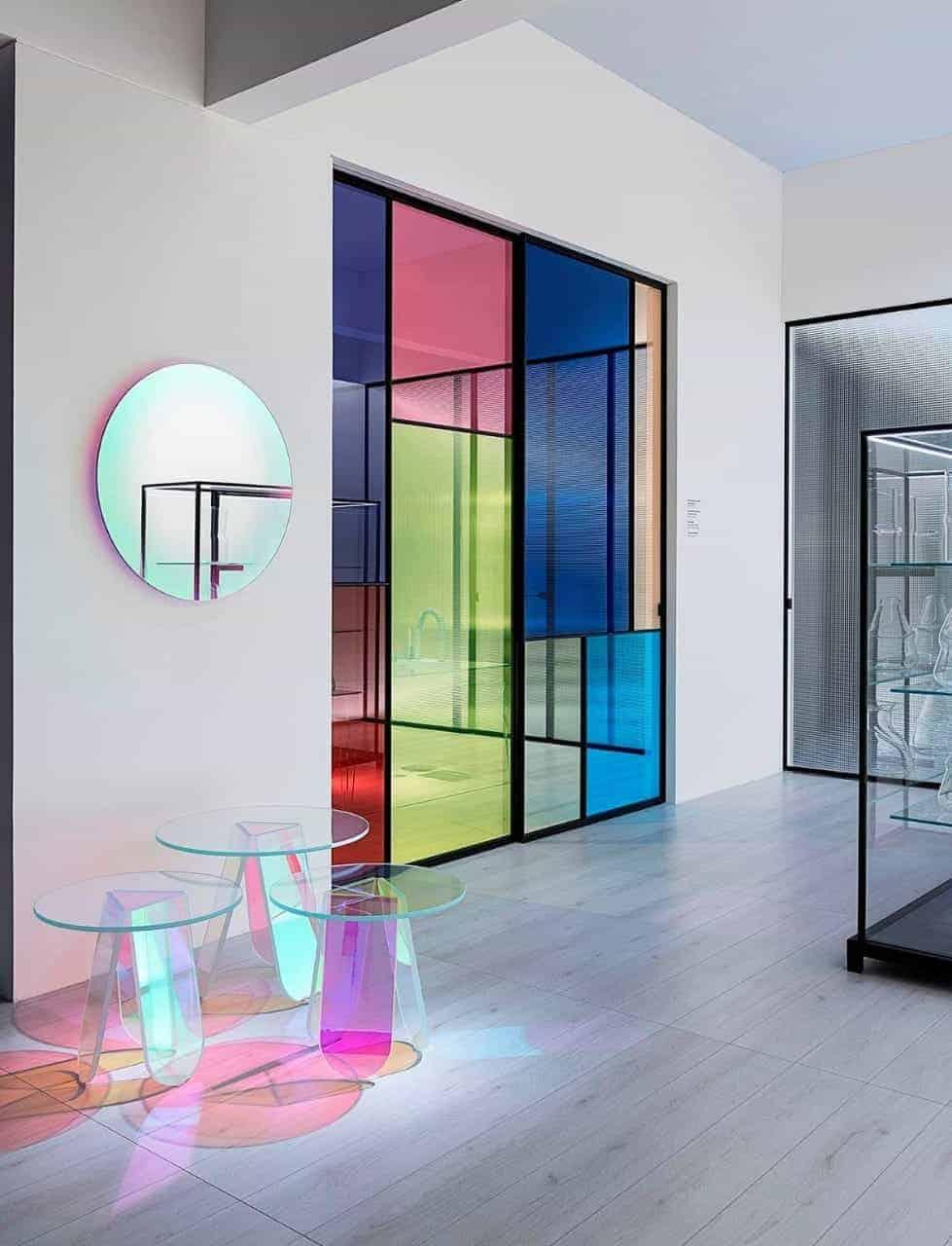 painted glass door, sliding door designs for living room