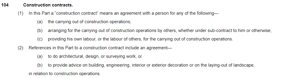 What is a construction contract