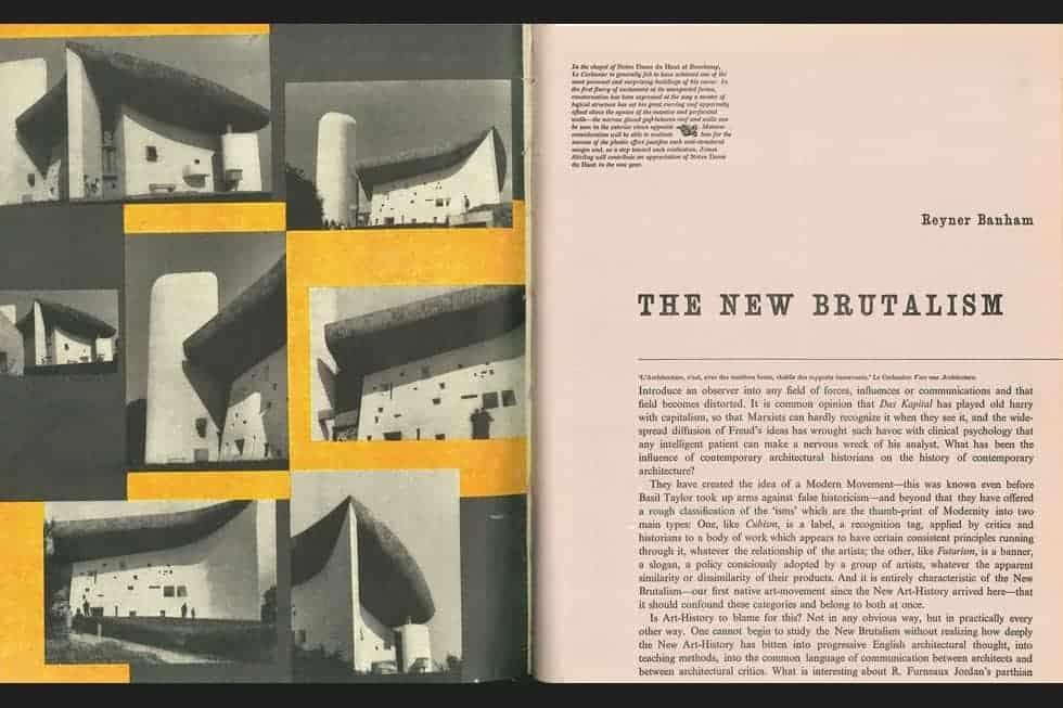 Reyner Banham's 1955 article, The New Brutalism