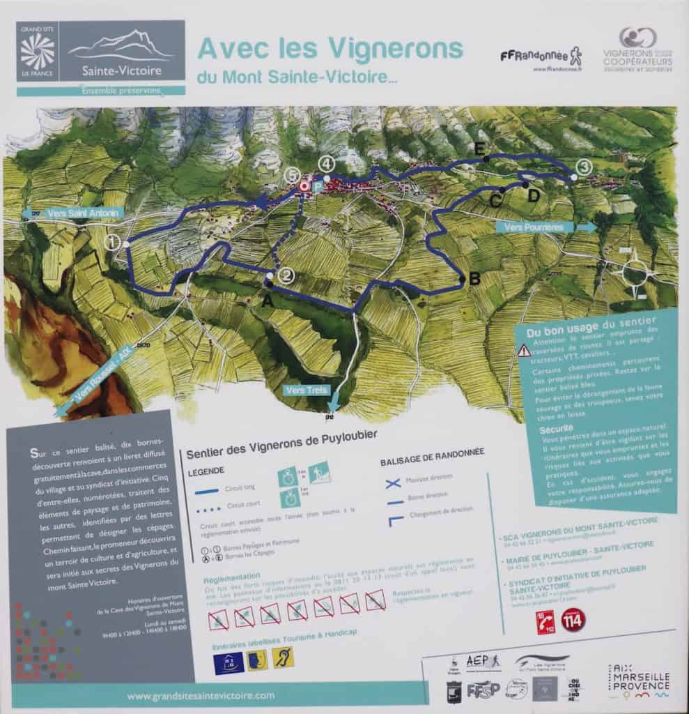 Puyloubier WineMakers Trails Map