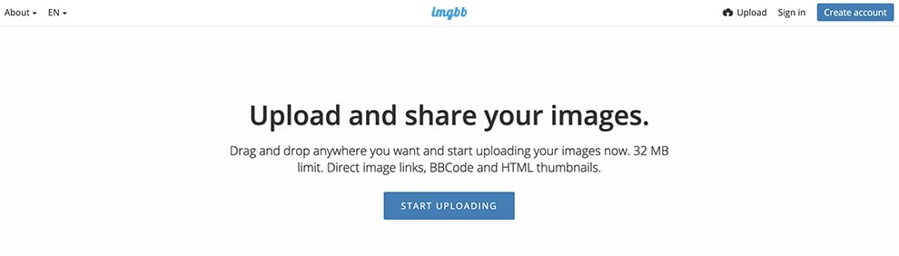 imgbb upload your images