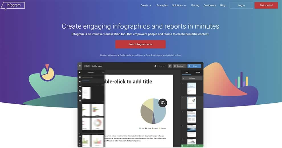 infogram free infographics software