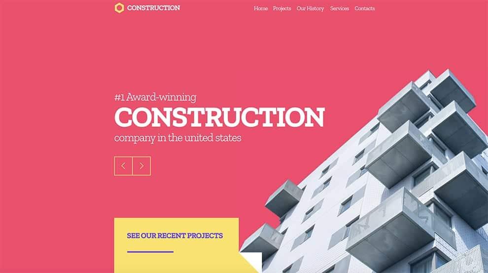 constrution slider