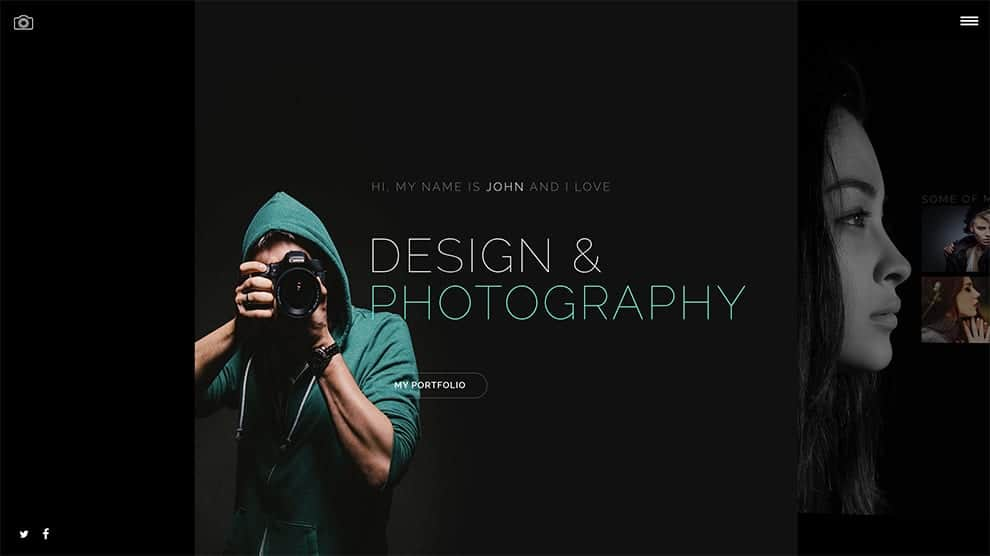 design and photography slider