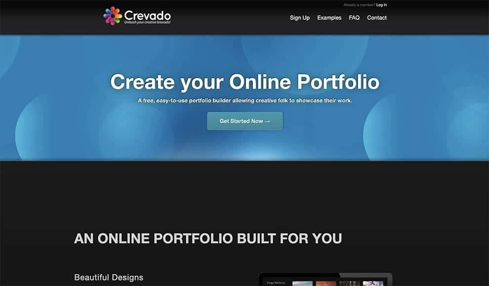 crevado سازنده سایت نمونه کارها آنلاین رایگان