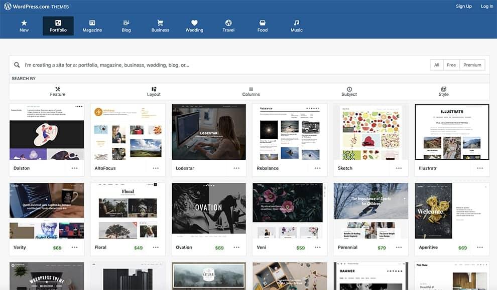 وردپرس سازنده نمونه کارها بصورت آنلاین رایگان