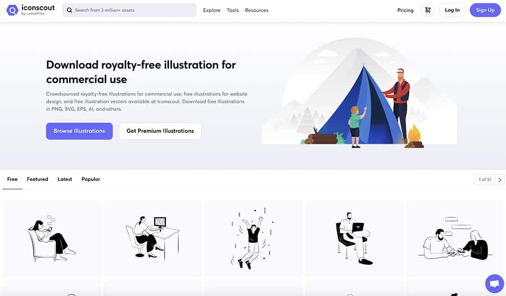 iconscout royalty-free Illustrations for commercial use