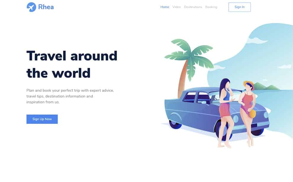 Rhea - Free Bootstrap 5 HTML5 Traveling Landing Page Template