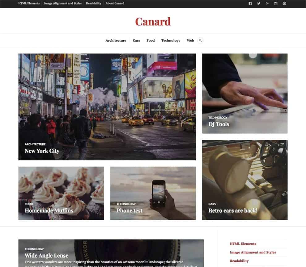 canard theme