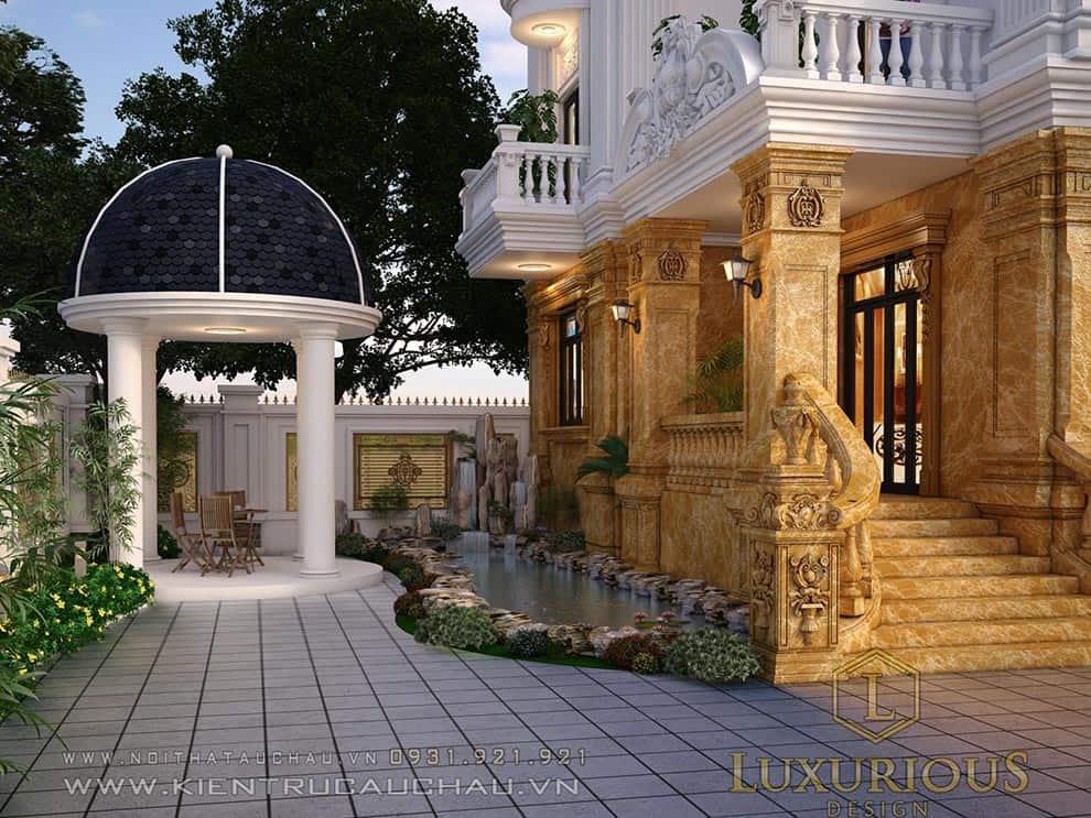 Sân vườn biệt thự đẹp nghệ an