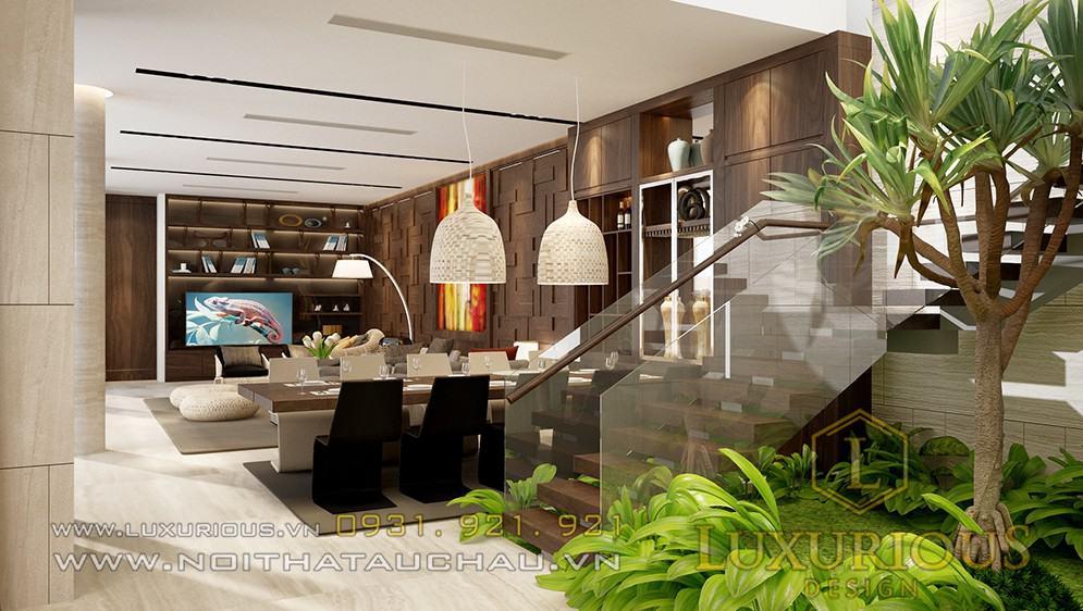 Thiết kế nội thất biệt thự sơn trà đà nẵng phòng khách