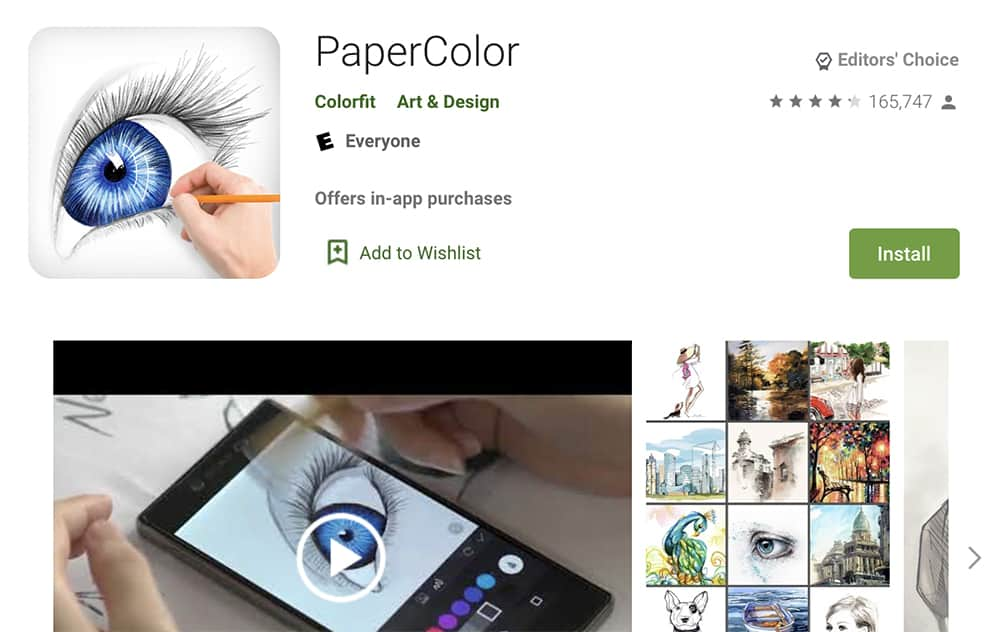 برنامه رسم PaperColor