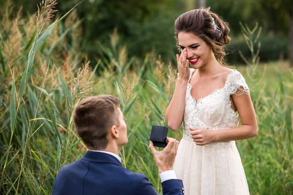 Heiratsantrag Freudentränen