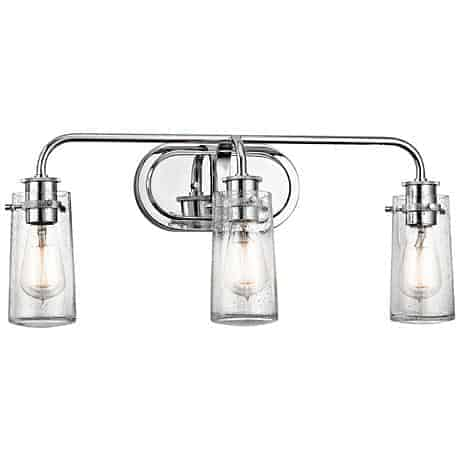"Kichler Braelyn 3-Light 24"" Wide Seedy Glass Bath Light"