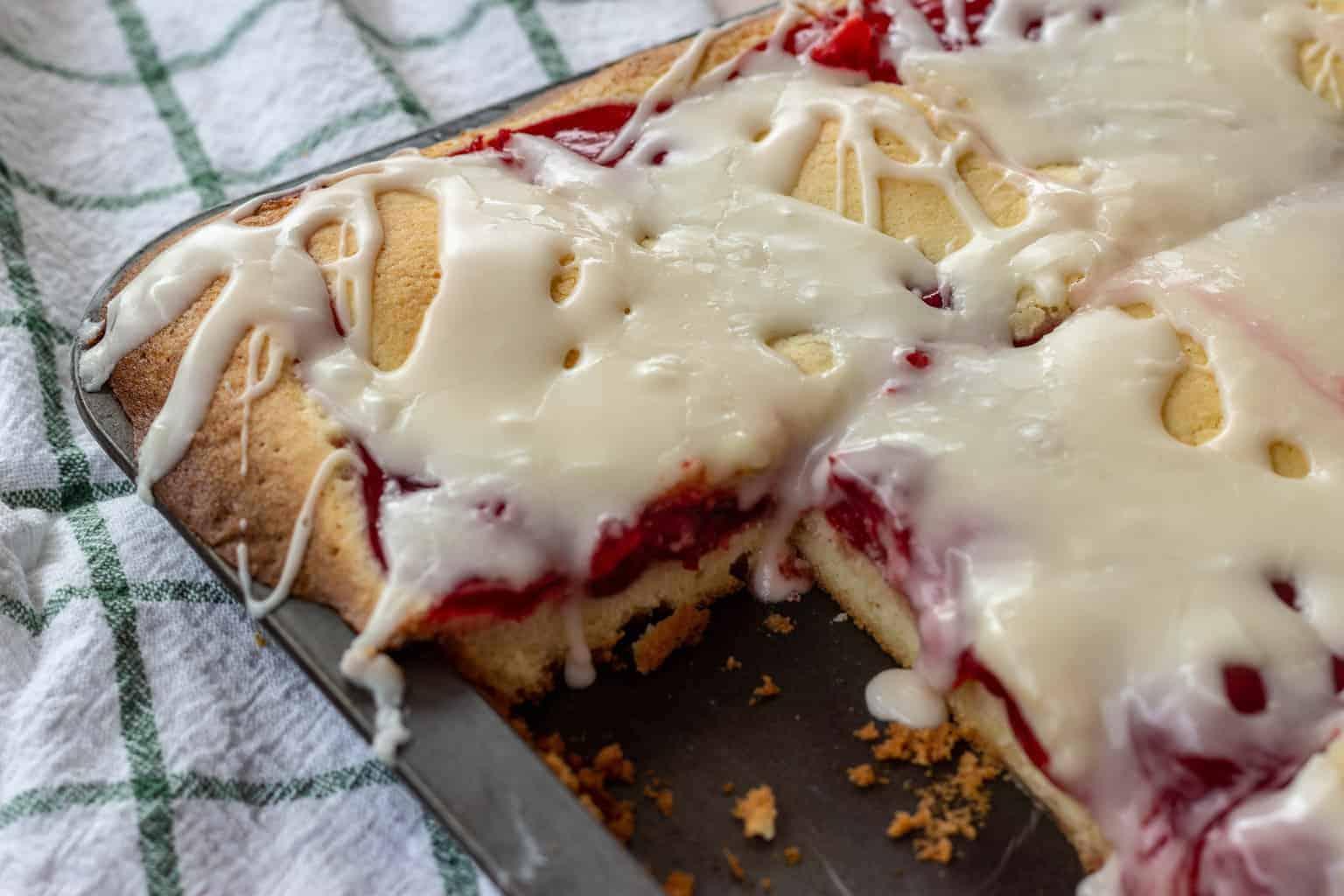 Cherry Pie Bars with Buttermilk Glaze