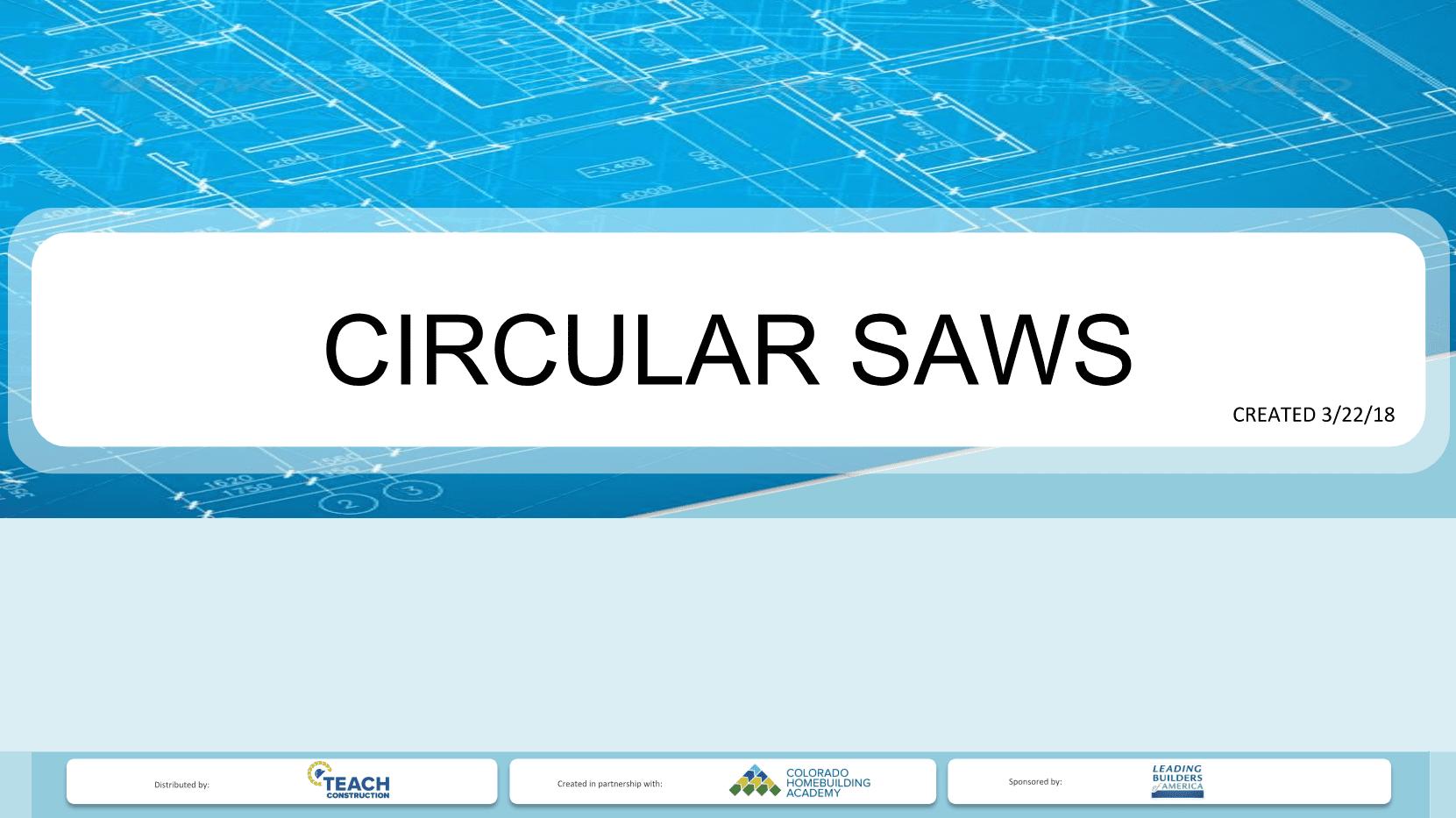 Circular Saw Presentation Image
