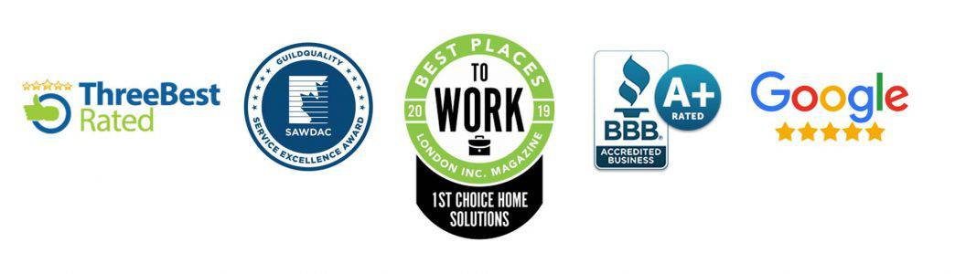 1st Choice Home Solutions London's Best Rated Roofing Company Awards