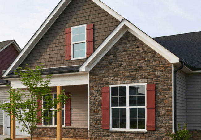 Novik Stone Siding House Example