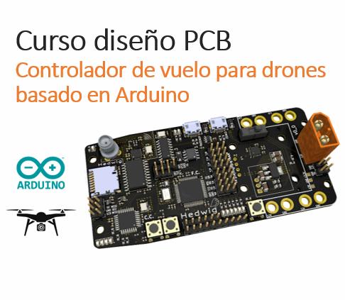 PCB controlador de vuelo Arduino | Curso diseño PCB