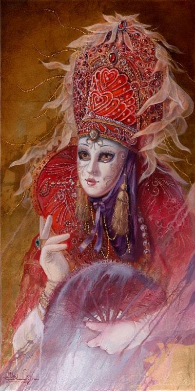 Original Oil Painting: Venetian Enchantress
