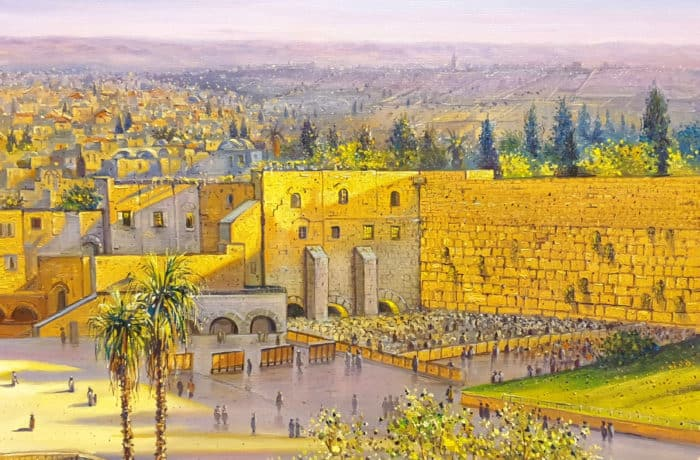 Original Oil Painting: Morning by the Kotel
