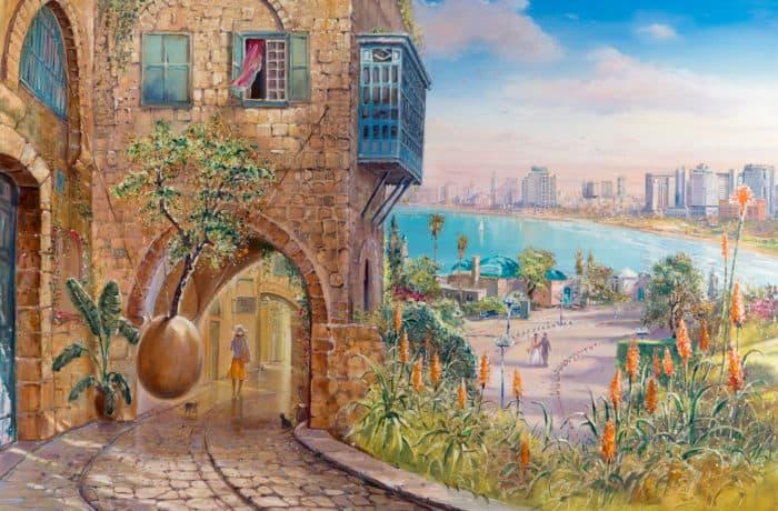Original Oil Painting: Enchanting old Jaffa